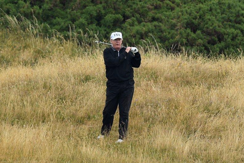 U.S. President Donald Trump golf