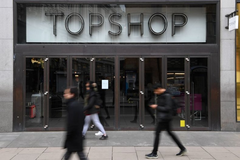 Topshop store in London, England