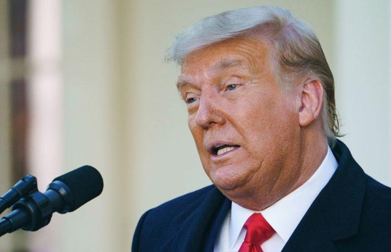 Donald Trump in Rose Garden
