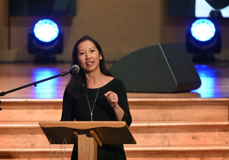 Dr. Leana Wen at Elijah Cummings' Funeral