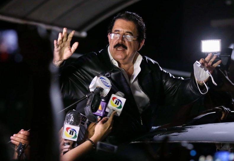 Manuel Zelaya Speaks to the Press