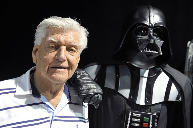 Actor David Prowse with 'Darth vader'