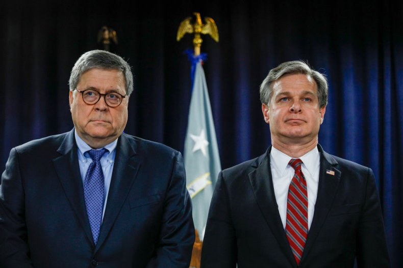 William Barr and Christopher Wray