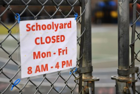 US-HEALTH-VIRUS-SCHOOLS-CLOSING A schoolyard is closed outside a