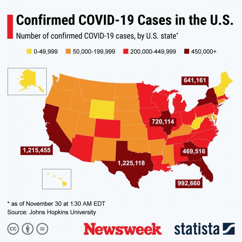 Statista coronavirus US map