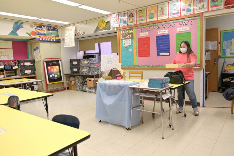 NYC school classroom November 2020