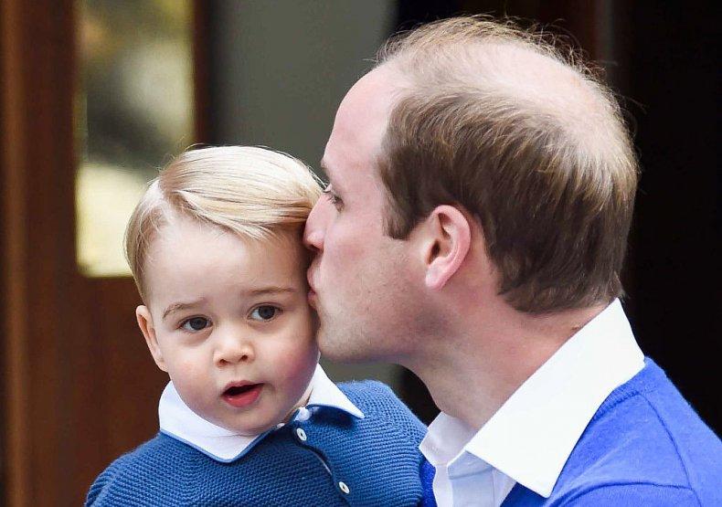 Prince George, Prince William, Princess Charlotte's Birth
