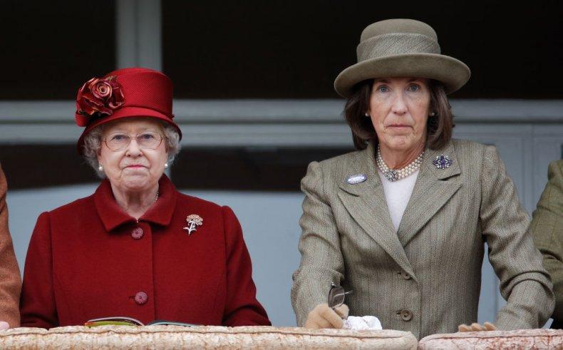 Queen Elizabeth II With Lady Celia Vestey