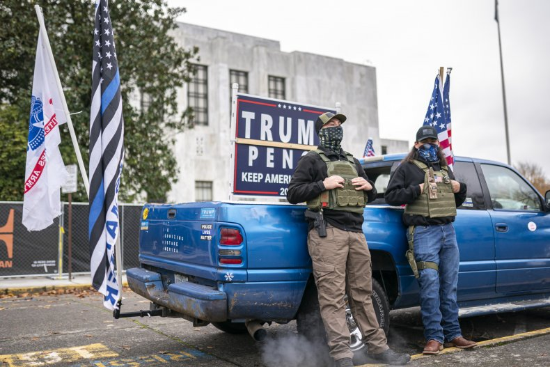 Donald Trump, election 2020, right wing, protests