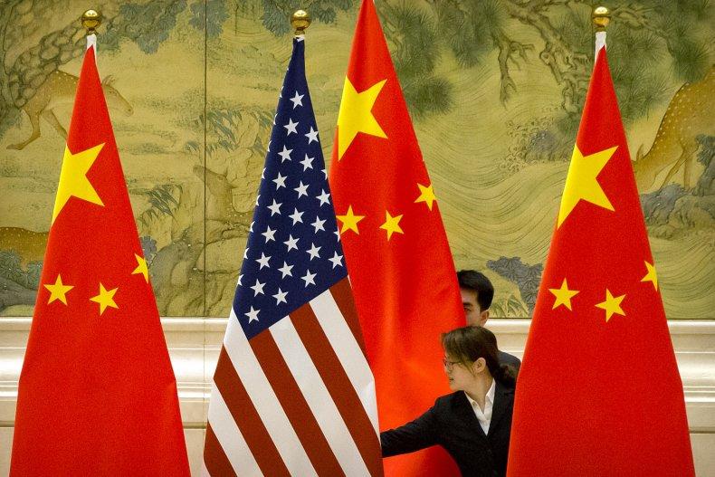 china, us, trade, flags