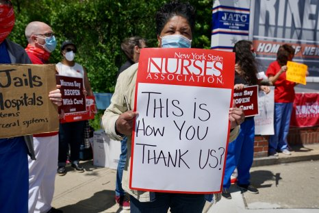 Nurses Protest At Rikers Island Over Conditions