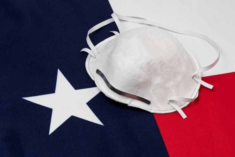 Mask and Texas Flag