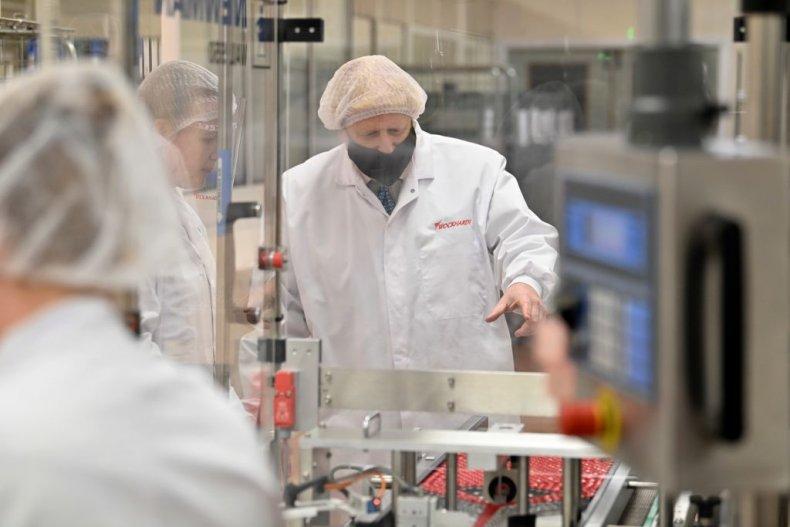 Boris Johnson COVID vaccine factory in Wales