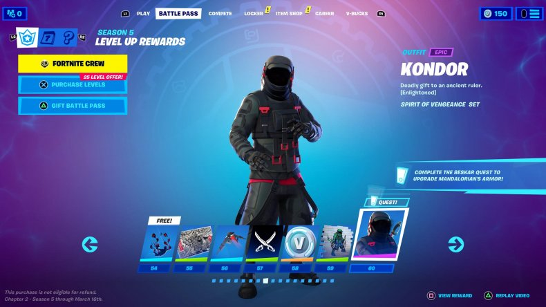 Fortnite Chapter 2 Season 5 Battle Pass Skins To Tier 100 Mandalorian Lexa And More Warm up course by candook. fortnite chapter 2 season 5 battle