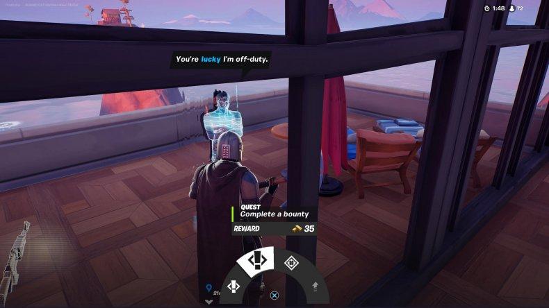 fortnite complete bounty npc