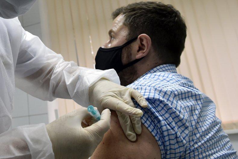 Russian nurse vaccination