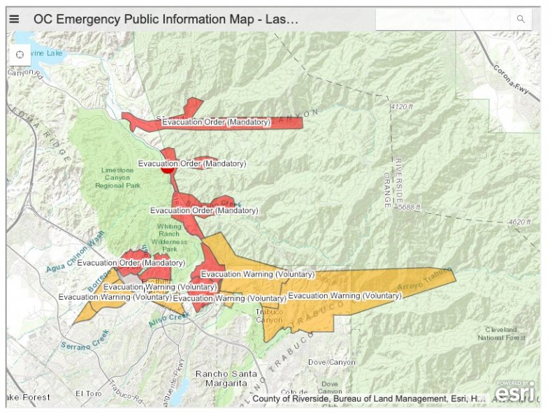 Bond fire evacuation map
