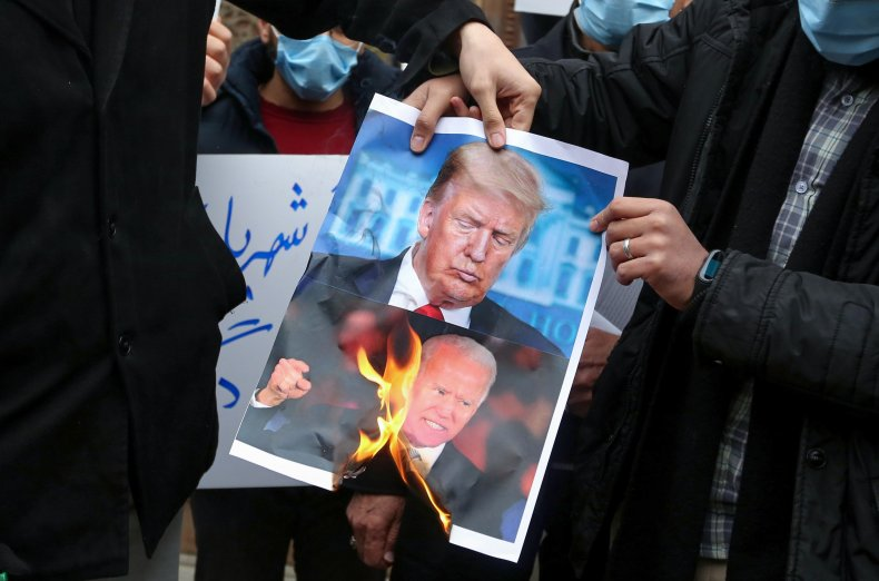 iran, protest, trump, biden, nuclear, scientist