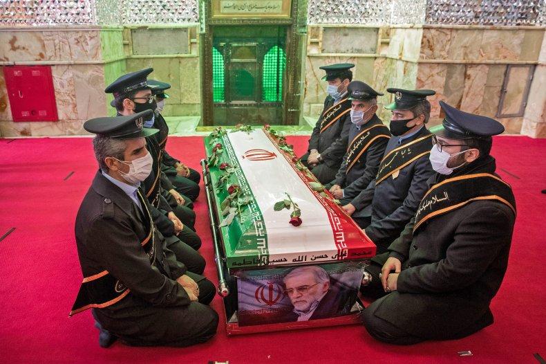 iran, revolutionary, guard, funeral, fakhrizadeh