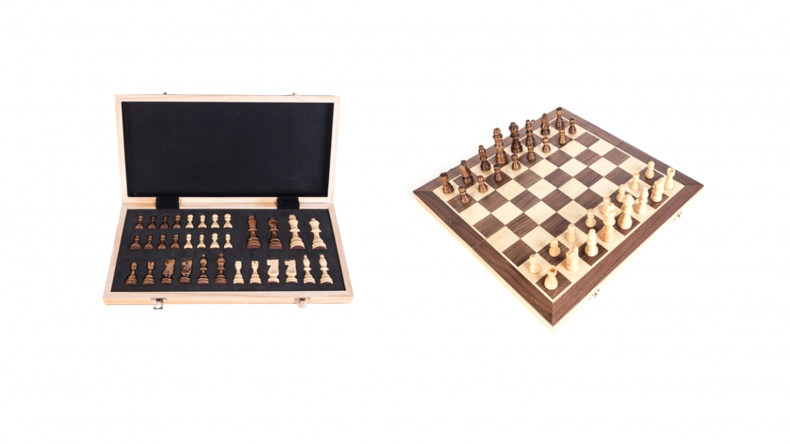 Portable Wooden Magnetic Chess Board