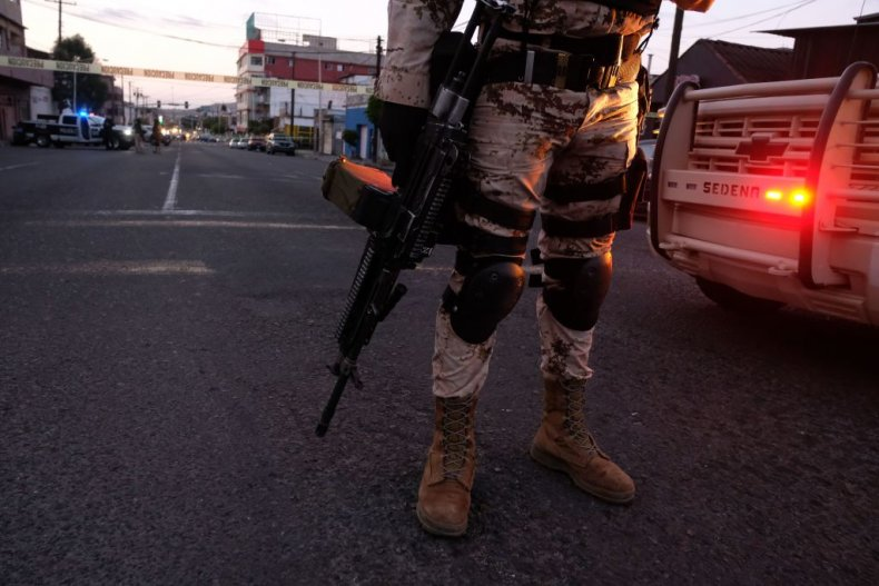 Mexican Soldiers guard