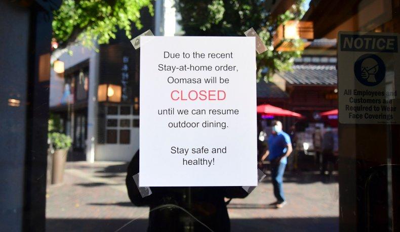 LA restaurant closure California lockdown December 2020