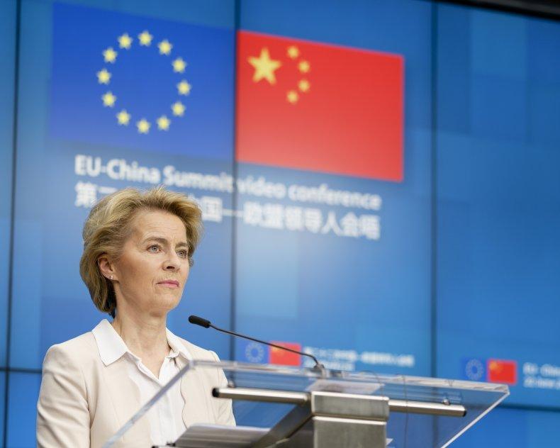 European Commission, EU, China, Flags, Trade
