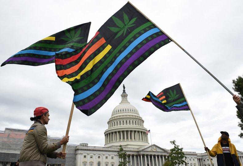 marijuana advocates outside US capitol 2019