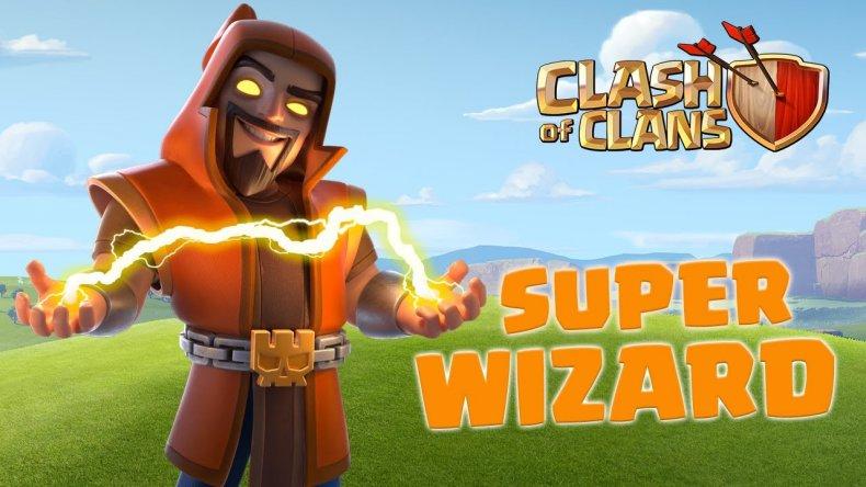 clash of clans super wizard