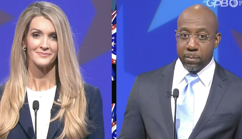 Kelly Loeffler debates Raphael Warnock in Georgia