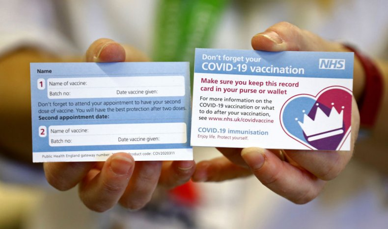 Card proves vaccination for COVID-19