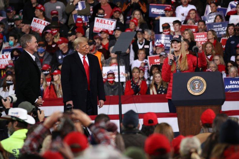 Donald Trump Georgia Loeffler Perdue Senate Republican
