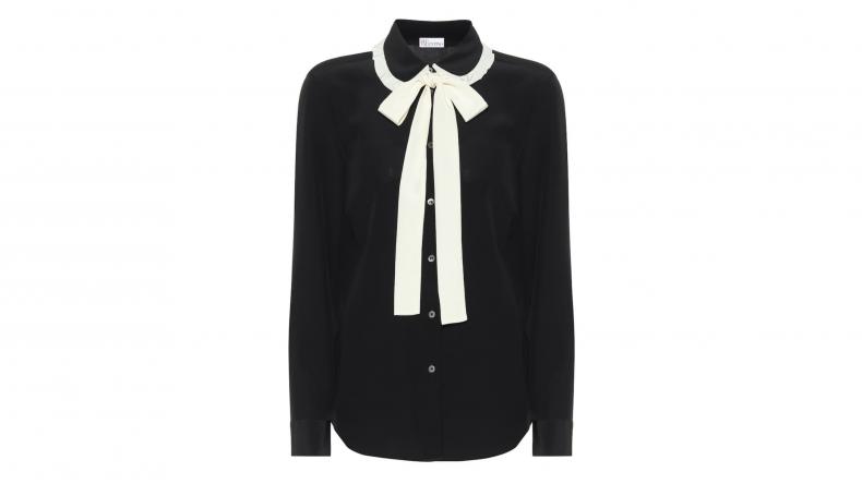 REDValentino Silk Crêpe-de-chine Shirt