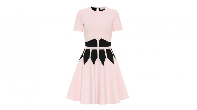 Alexander McQueen Stretch-Jersey Minidress
