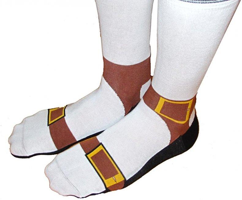 perfect white elephant gift sandal socks