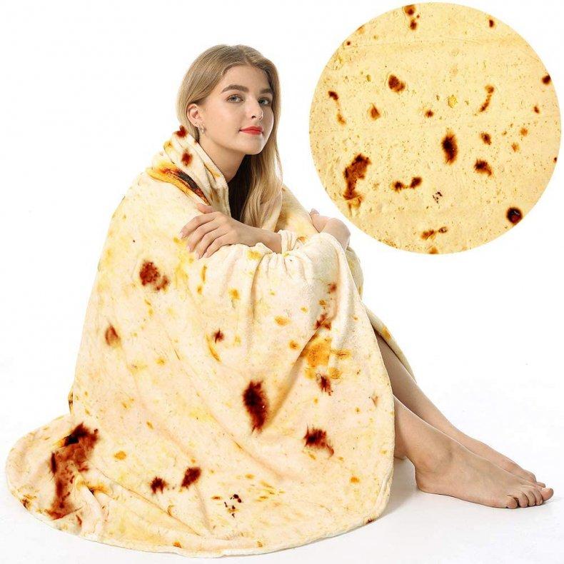 perfect white elephant gift tortilla blanker