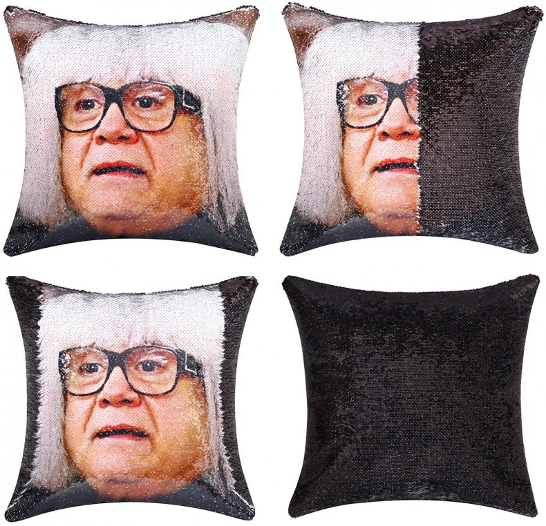 perfect white elephant gift celebrity sequin pillow
