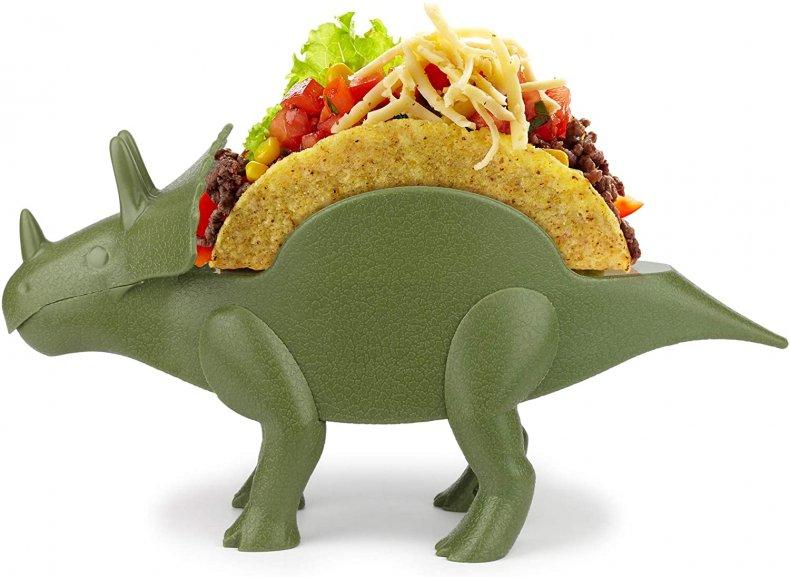 perfect white elephant gift tricerataco taco holder