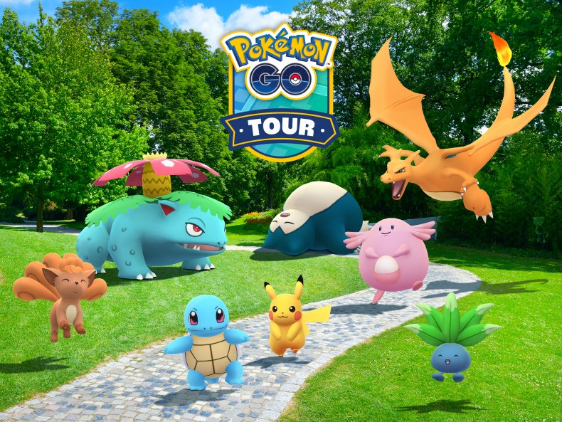 pokemon go tour kanto region