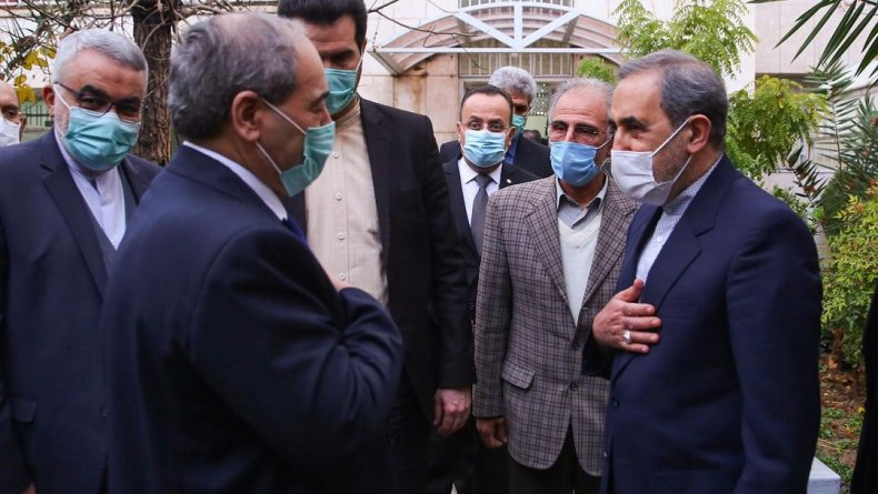 iran, velayati, syria, mekdadi, meeting