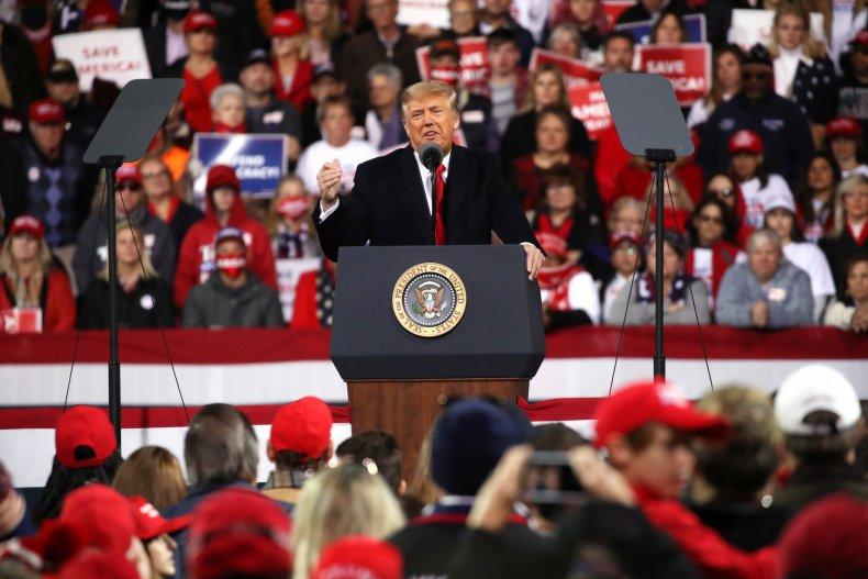 donald trump campaigns for Georgia senators