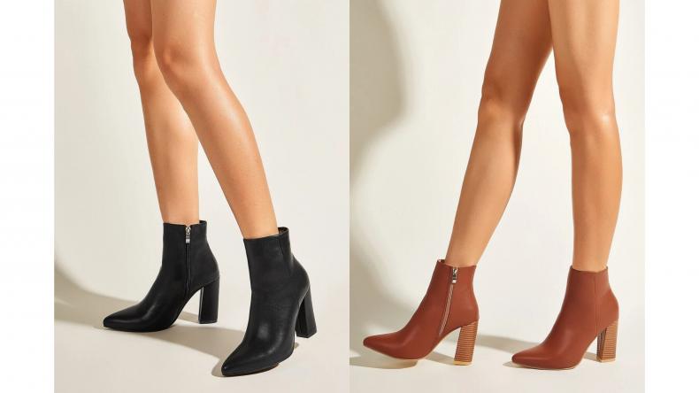 Minimalist Chunky Heeled Ankle Boots