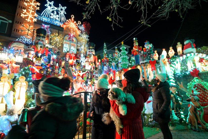 Brooklyn New York Christmas lights December 2020