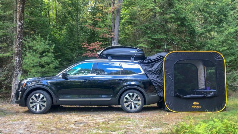 Car Glamping in the woods