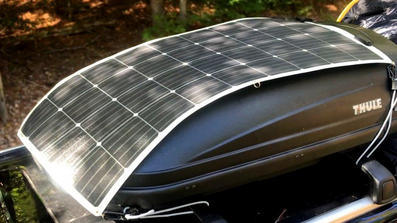 Renogy's solar panel on an SUV