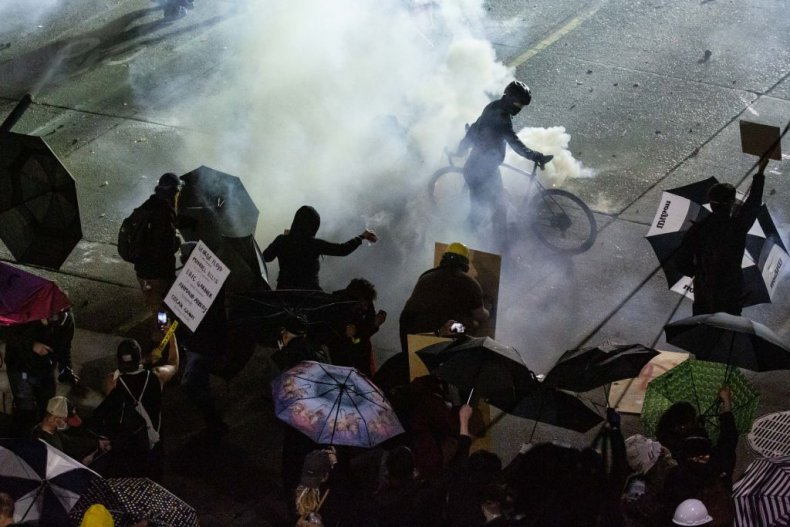 Seattle Police clash with protesters