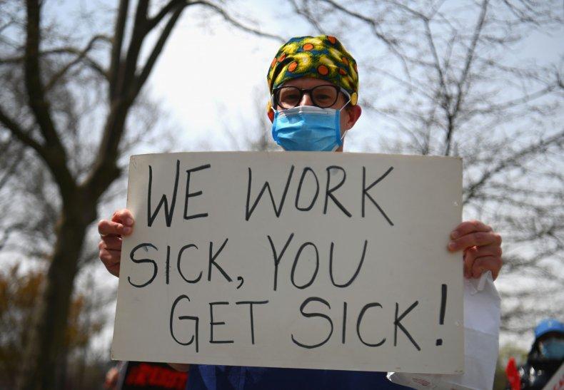Nurse Sick Sign Protest TikTok
