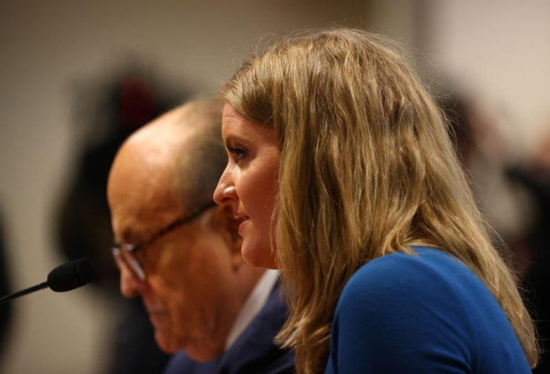 Jenna Ellis and Rudy Giuliani