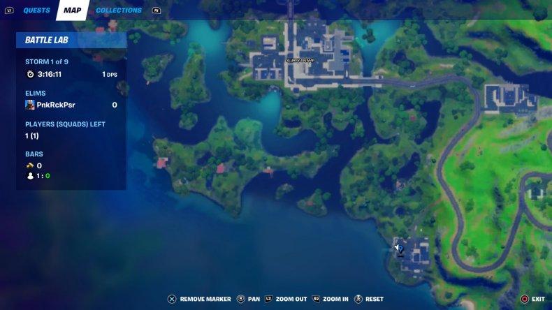 fortnite evidence location 1 map