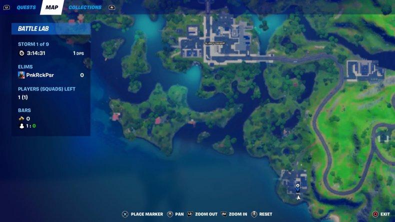 fortnite evidence location 3 map